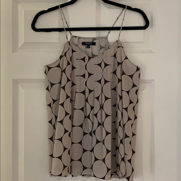 Madewell grey and charcoal abstract print cami